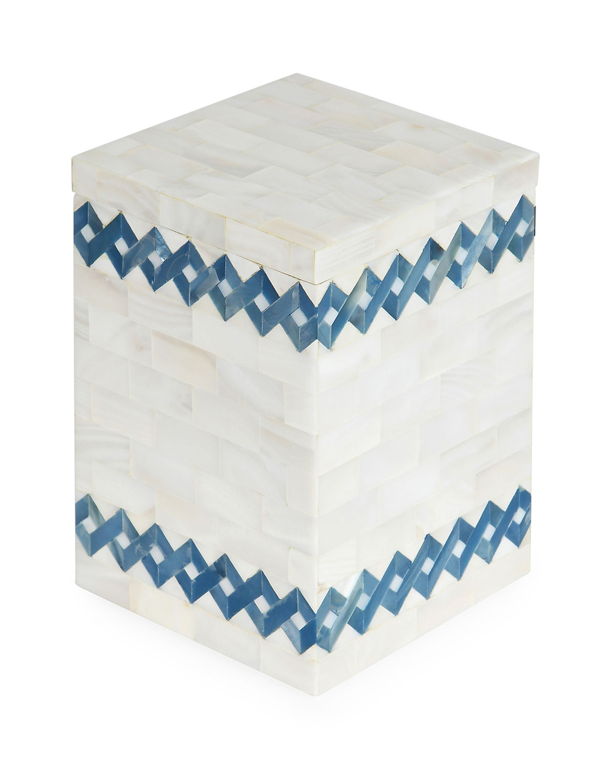 SV Casa Blue Weave Lidded Box