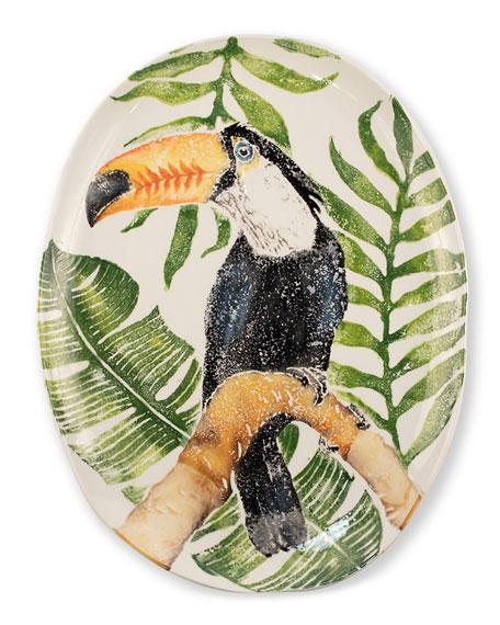 Vietri Into the Jungle Toucan Oval Platter
