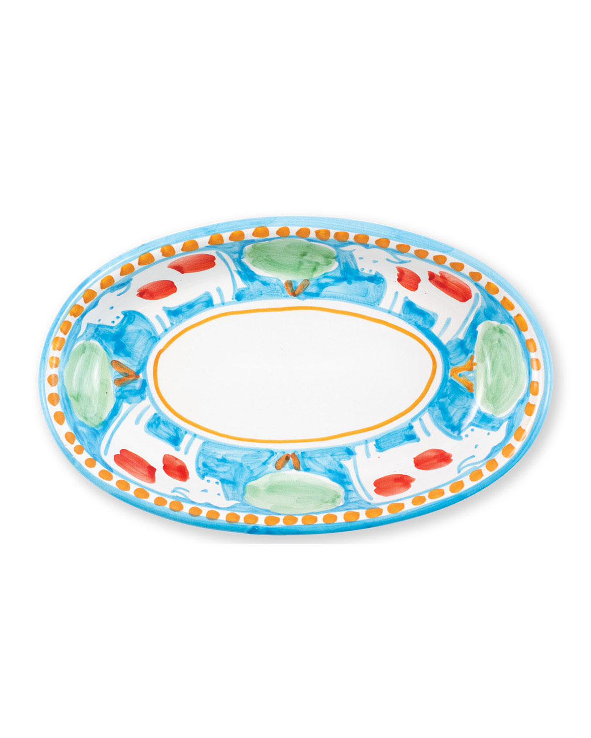 Vietri Mucca Small Oval Tray