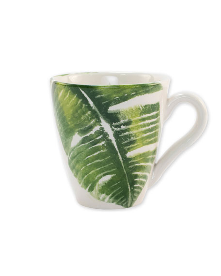 Vietri Into the Jungle Banana Leaf Mug