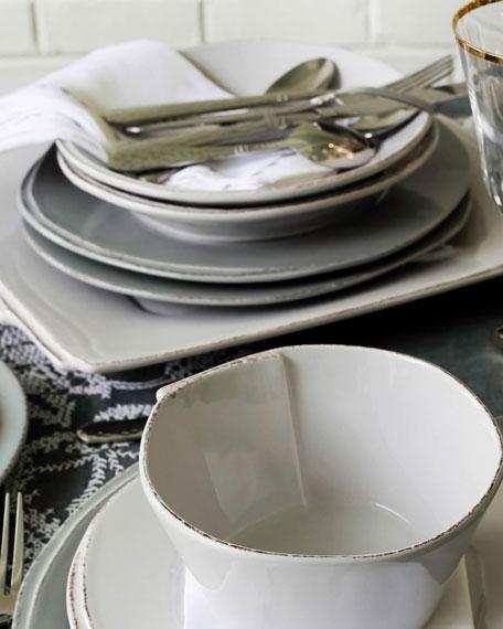 Vietri Lastra Pasta Bowl, Light Gray