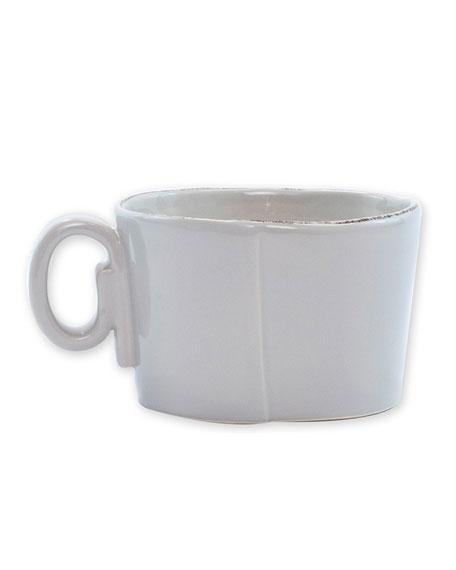 Vietri Lastra Jumbo Cup, Light Gray
