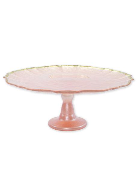 Vietri Baroque Glass Cake Stand
