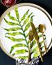 Vietri Into The Jungle Arica Palm Leaf Salad Plate