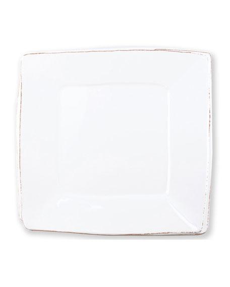 Vietri Melamine Lastra Square Platter, White