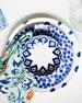 Vietri Santorini Dot Dinner Plate