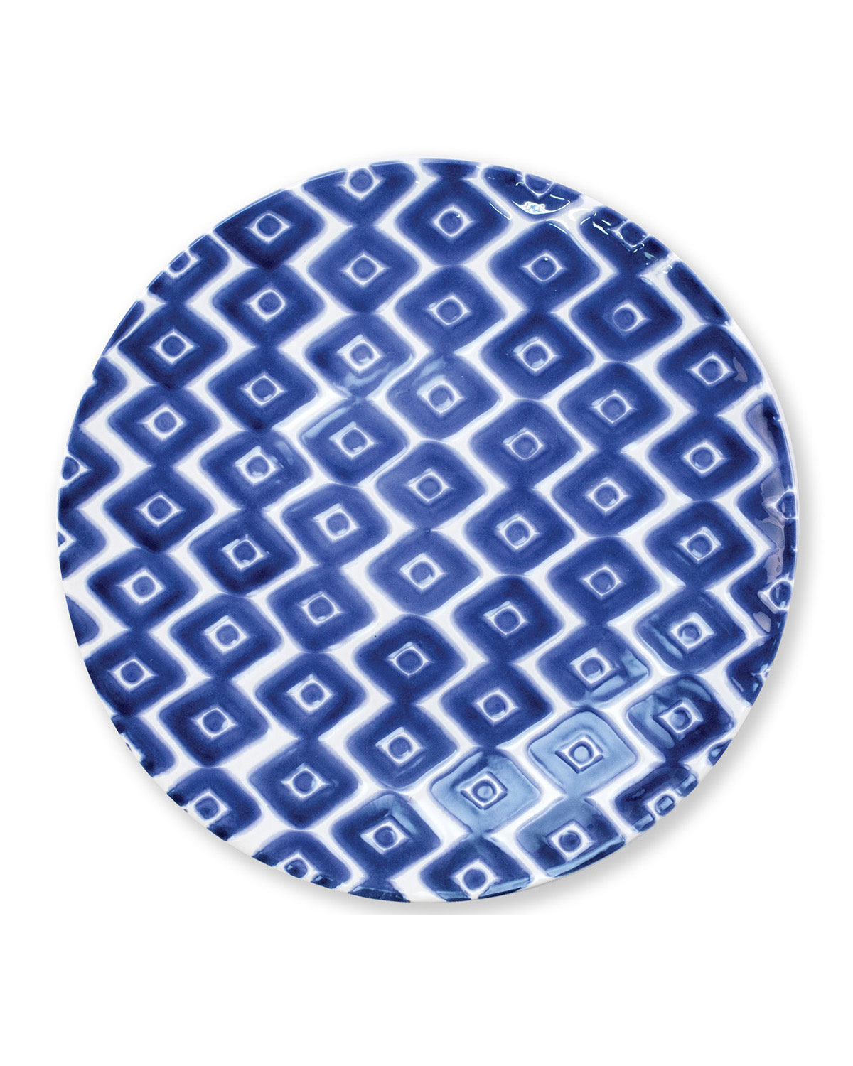 Vietri Santorini Diamond Dinner Plate
