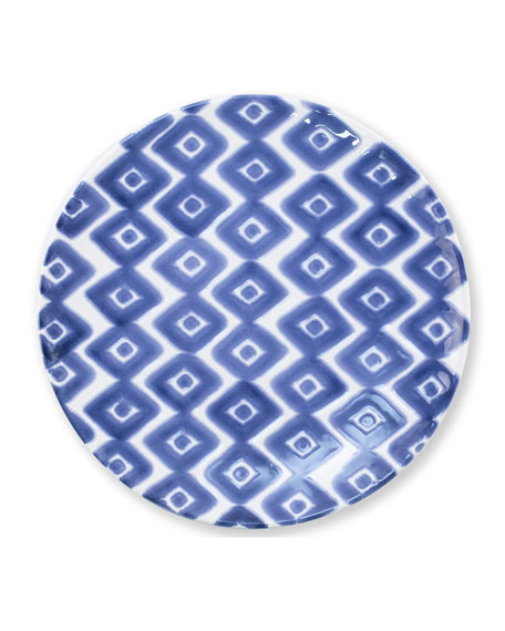 Vietri Santorini Diamond Salad Plate