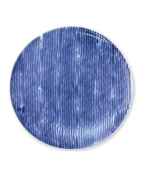 Vietri Santorini Stripe Salad Plate