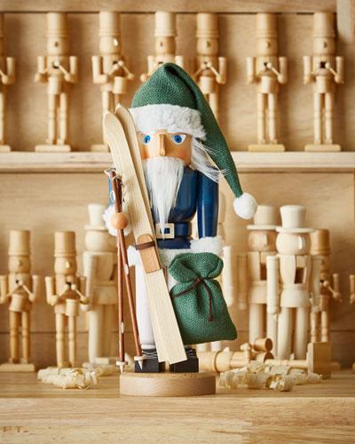 Santa with Skis Nutcracker