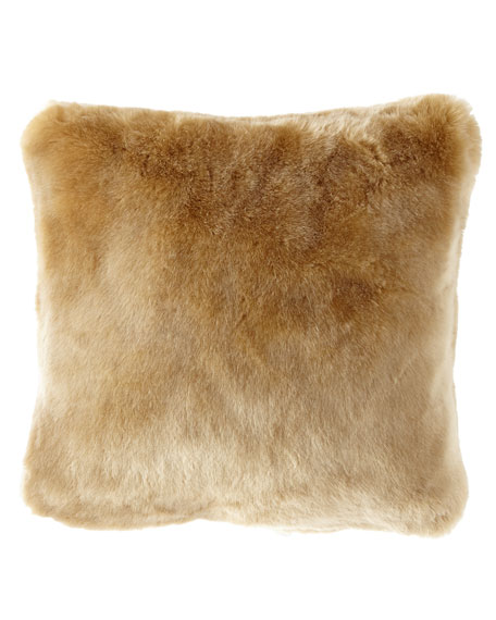Isabella Collection by Kathy Fielder Sabrina Faux-Fur Pillow