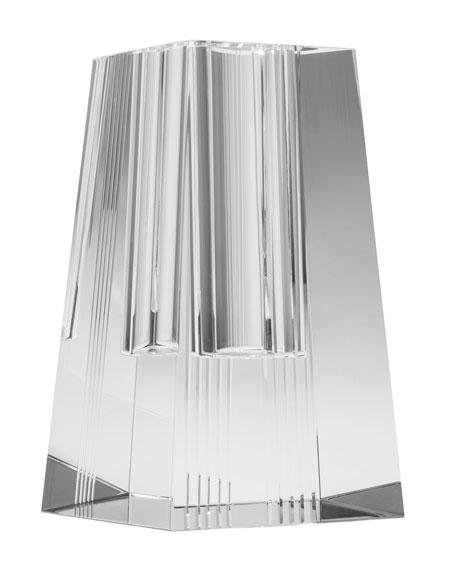 Veritas Diamond Cut Tall Quad Vase