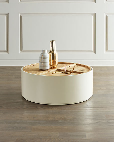 Cassie Drum Style Coffee Table