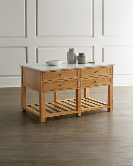 Barstow Marble Top Kitchen Island