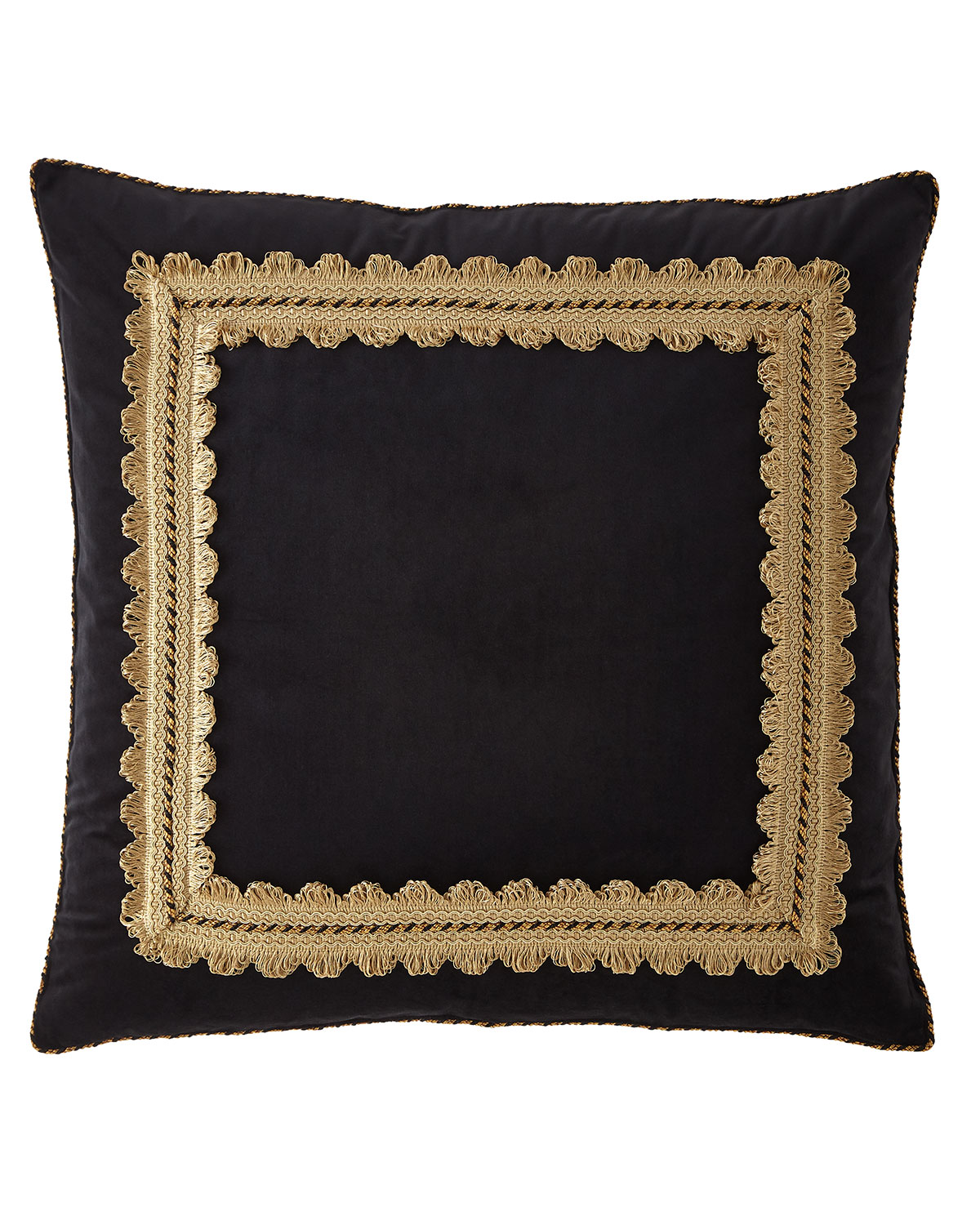 Sweet Dreams Midnight Framed Velvet European Sham