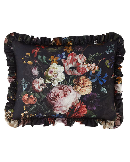 Sweet Dreams Midnight Garden Floral Pillow