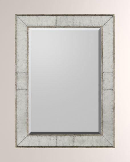 John-Richard Collection Silver Frame with Center Rectangular Beveled Mirror
