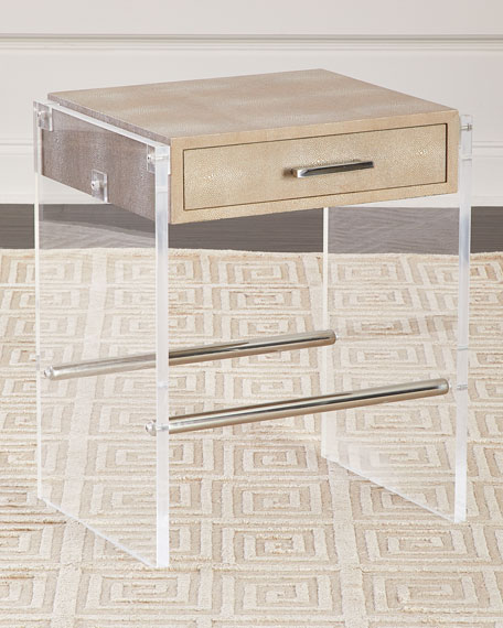 Regina Andrew Design Lucy Faux Shagreen & Acrylic Side Table