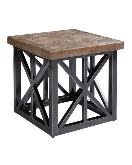 """Arch Salvage Outdoor Oliver 22"""" End Table"""