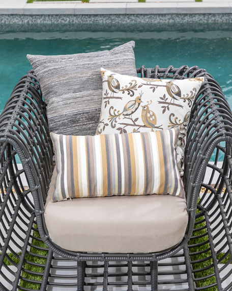 Elaine Smith Textured Lumbar Sunbrella Pillow