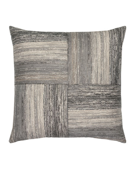 Elaine Smith Textured Quadrant Sunbrella Pillow, Gray