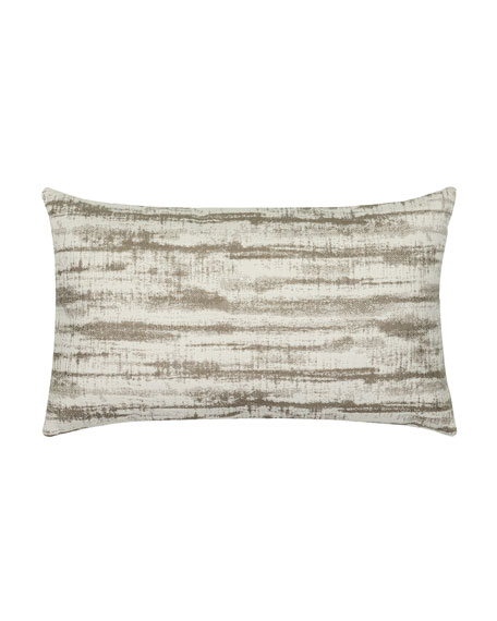 Elaine Smith Linear Lumbar Sunbrella Pillow, Taupe