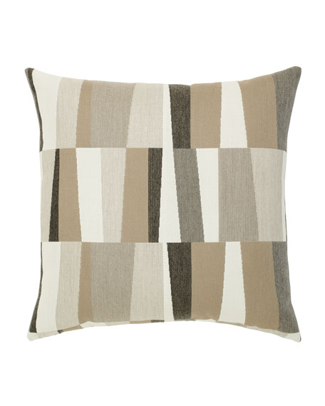 Elaine Smith Strata Sunbrella Pillow, Gray