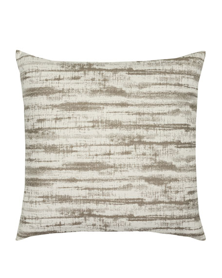 Elaine Smith Linear Sunbrella Pillow, Taupe