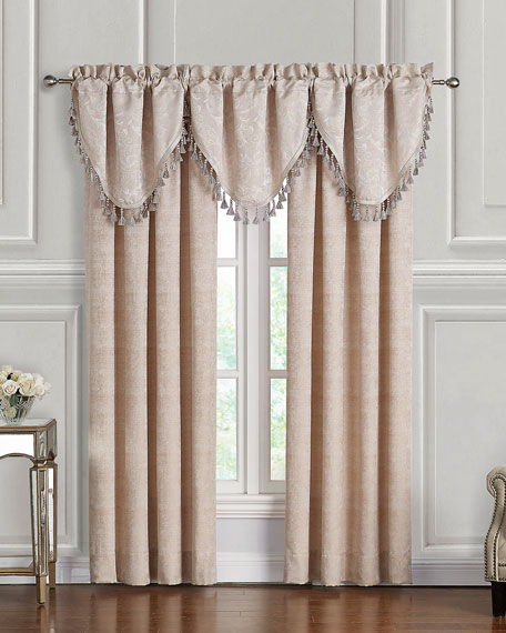 Waterford Gisella Cascade Valance, Set of 3