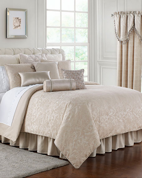 Waterford Gisella 4-Piece Reversible Queen Comforter Set