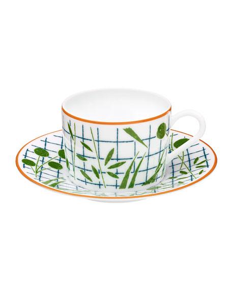 Hermès A Walk in the Garden Teacup & Saucer Set