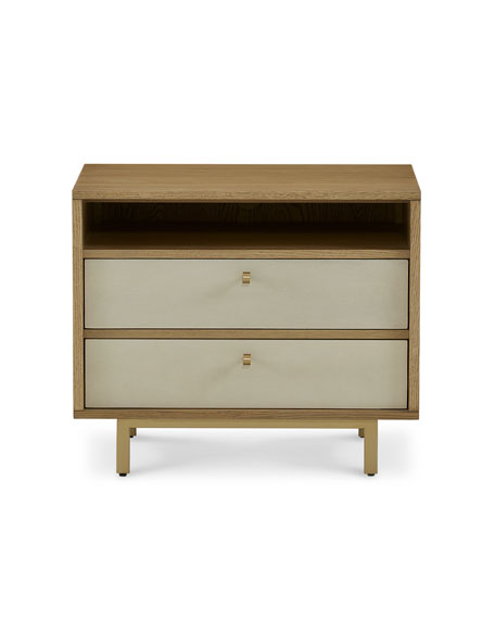 Rylan Faux-Shagreen Night Stand