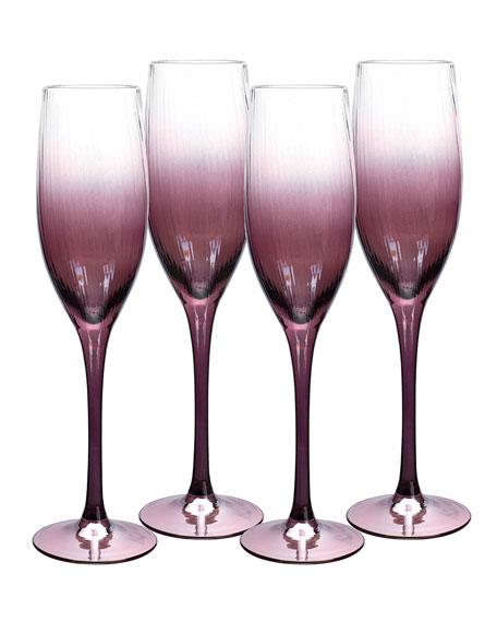 Spode Kingsley Champagne Flutes, Set of 4