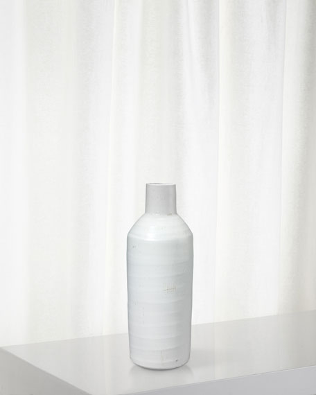 Jamie Young Dimple Carafe in Matte White Ceramic