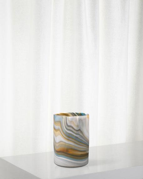Jamie Young Medium Terrene Vase in Grey Swirl Glass