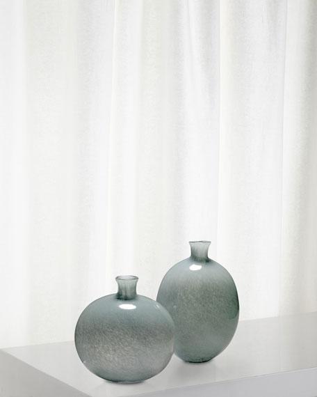 Jamie Young Minx Decorative Vases in Grey Glass, Set of 2