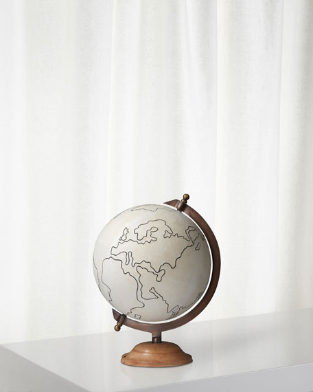 Jamie Young Canvas Globe Large in Canvas