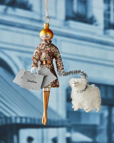 NM Shopper Lady Ornament