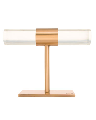 Small T-Bar Jewelry Stand in Rose Gold