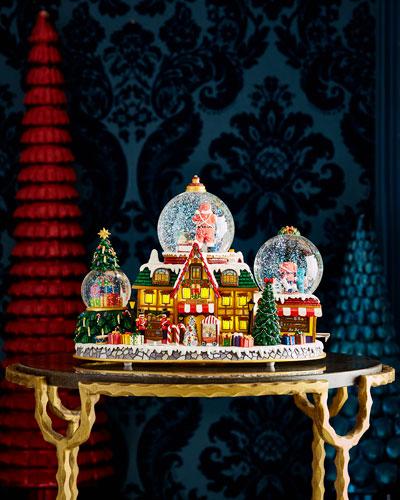 Santa's Toy Shop Snow Globe