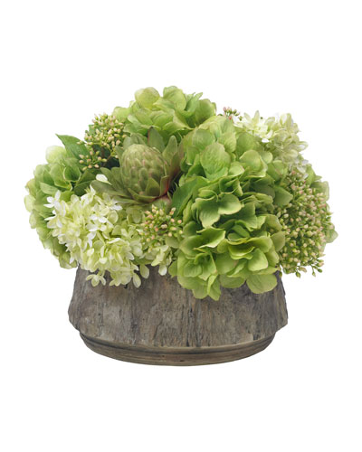 Big Sur Bouquet in Faux Wood Planter