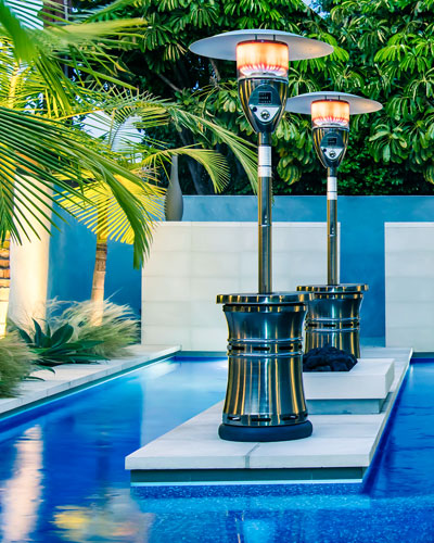 Halo Patio Heater  Stainless Steel