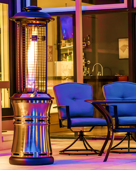 Outdoor Order Axis Patio Heater, Stainless Steel