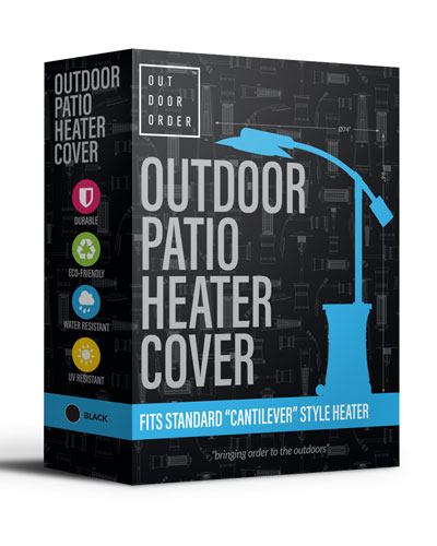Curve Patio Heater Cover  Black