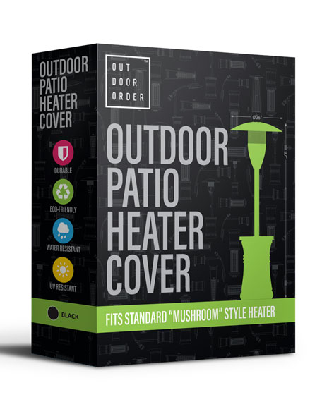 Outdoor Order Halo Patio Heater Cover, Black