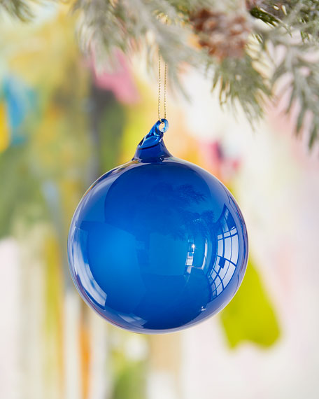 Jim Marvin 100mm Bubble Gum Glass Ball Ornament