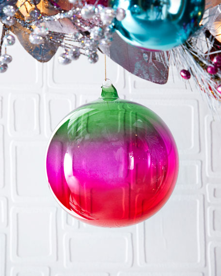 Jim Marvin 120mm Shiny Ombre Glass Ball Ornament