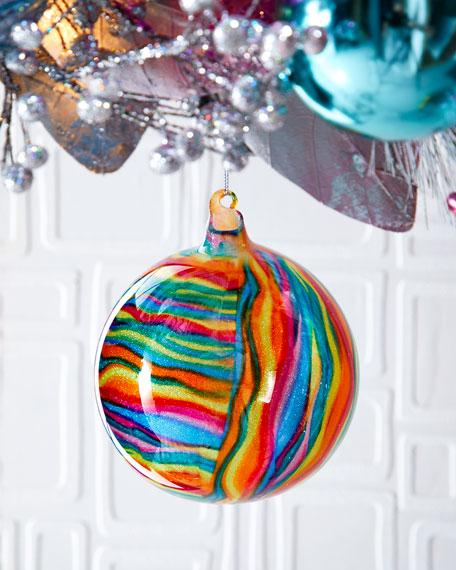Jim Marvin 120mm Glitter Glass Ball Ornament