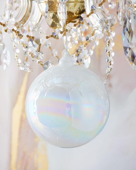 Jim Marvin 120mm Pearl Glass Ball Christmas Ornament