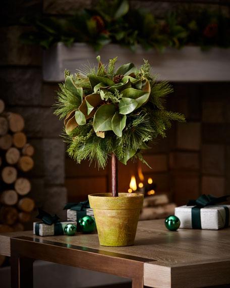 """Jim Marvin Magnolia Leaf Topiary, 26"""""""